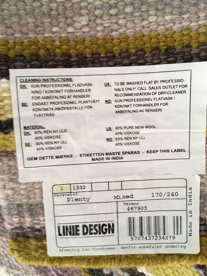 Andet tæppe, 60% uld / 40% viskose, b: 170 l: 242