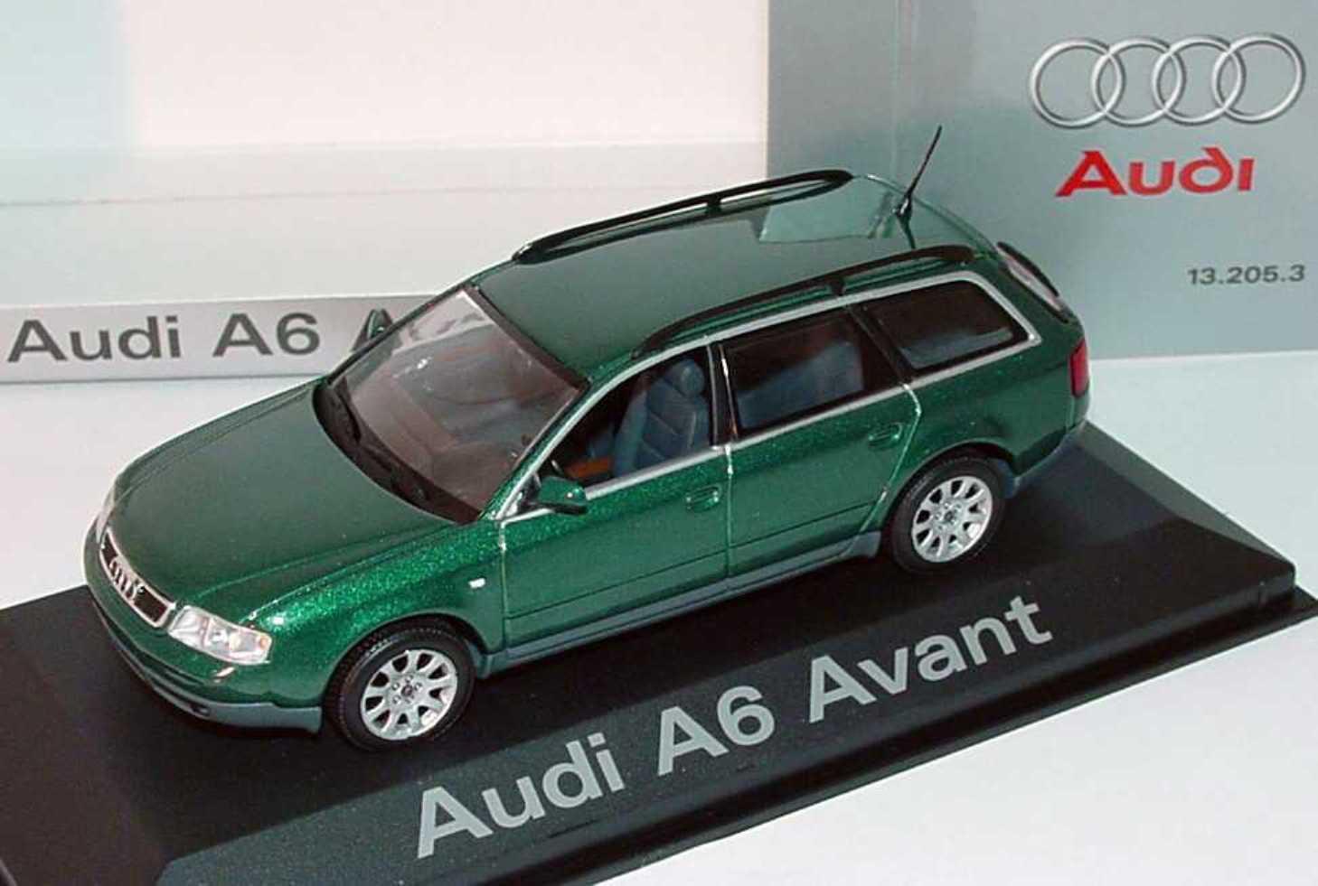 AUDI A6 AVANT BREAK 2.8 MINICHAMPS 1 43 C5 RACING vert METAL VERT GERMANY GRUN