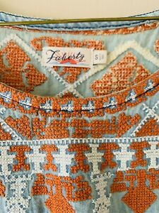 Faherty Womens Dress Size Small S XS Embroidered Never Worn