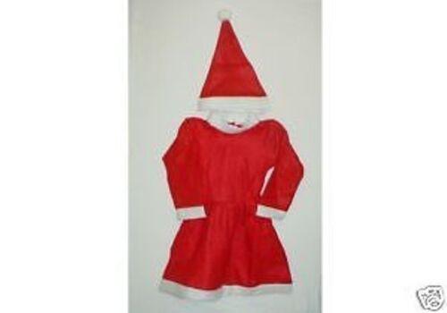B12 Girls Fancy Dress Christmas 2pce Santa Suit