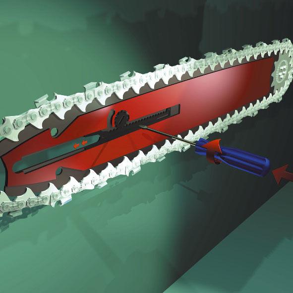 Profi-Schneidgarnitur DOLMAR     MAKITA 40cm OREGON Schwert mit QS + 3 x Sägekette 3525da