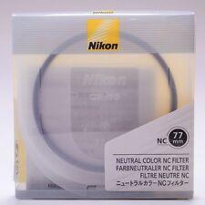 Nikon 77mm NC Neutral Color UV Filter Lens Protection