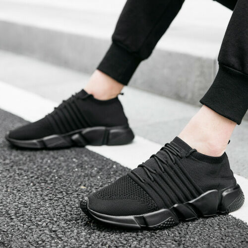Mens Leisure Sneakers Shoes Trail Running Sports Non-slip Gym Ultralight Flats B