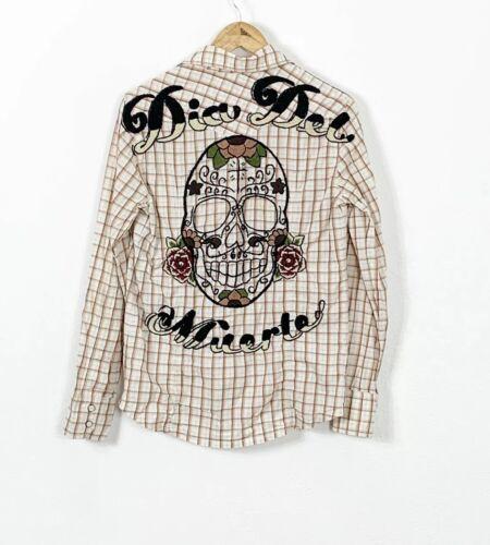 Johnny Was Joystick Women's Embroidered Sugar Skul