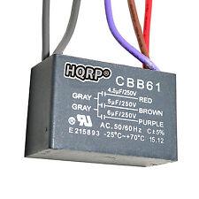 HQRP Capacitor para Harbor Breeze de Ventilador 4.5uf+5uf+6uf, 5-Alambres; CBB61