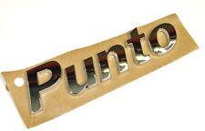 FIAT PUNTO 1999-2005 chrome effetto Punto Emblema / BADGE NUOVA & ORIGINALE 51734001