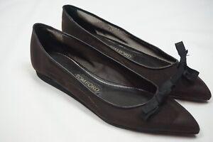Tom-Ford-Black-Mesh-Bow-Ballet-Flats-Womens-Shoes