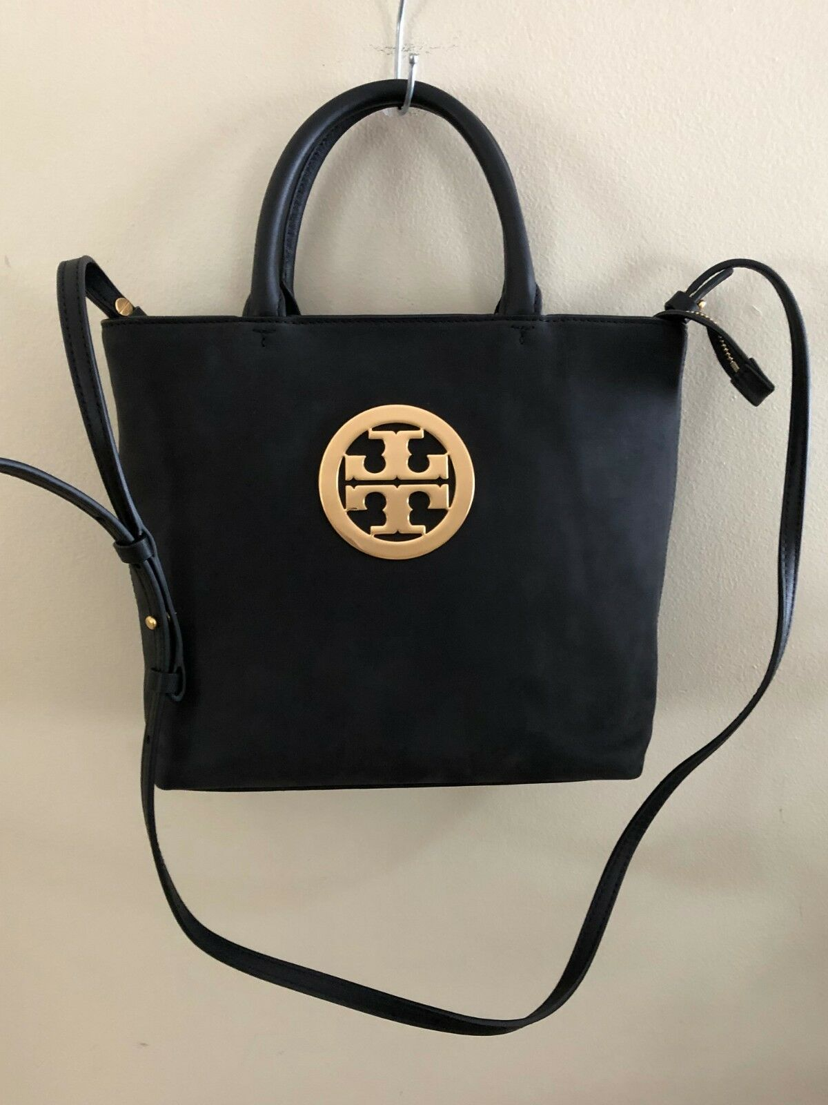 dc67f8b38cc 52872 Tory Burch Black Leather Charlie Small Convertible Tote for sale  online