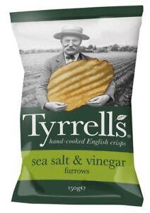 Image is loading Tyrrells-Furrows-Sea-Salt-amp-Vinegar-Crisps-150g f82b44edd