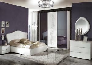 Dettagli su Camera da letto matrimoniale completa moderna modello Valentina  design raffinato