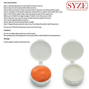 Details about Teeth Impression Silicone Putty Dental Material Hydrophillic  Firmer Pots 2 Pcs