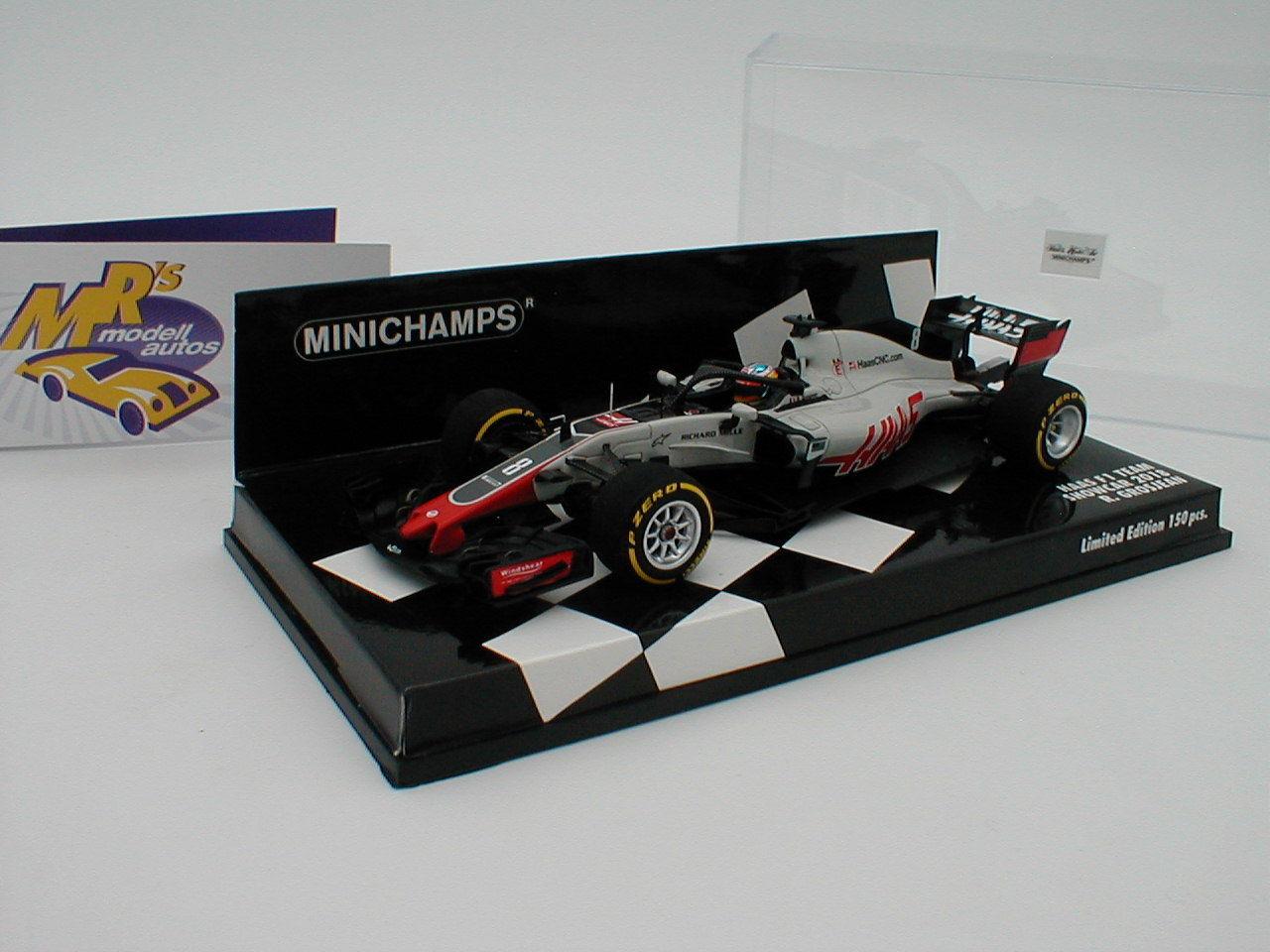 Minichamps 417189008-Haas f1 Team Show Formula 1 2018  R. Grand Jean  1 43