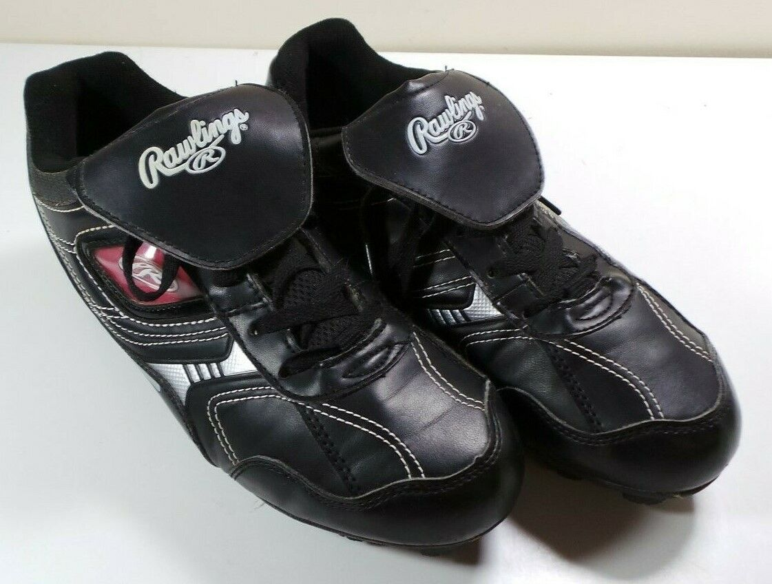 Men's Rawlings Baseball Rubber Spikes Cleats Softball Soccer shoes Size 7