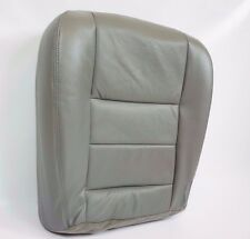2003-07 F250 F350 Lariat -Driver Side Bottom Replacement Leather Seat Cover GRAY