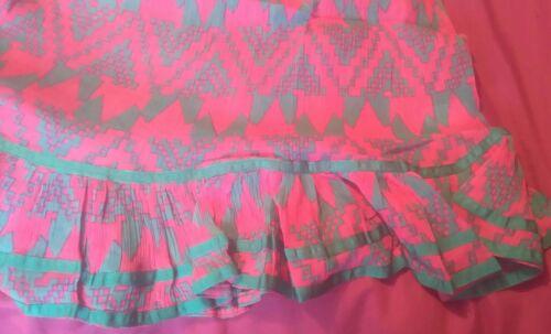 AQUA,CASUAL EX T*P SHOP MINI//SUMMER BEACH TUNIC CRINKLE COTTON  MULTI  DRESS