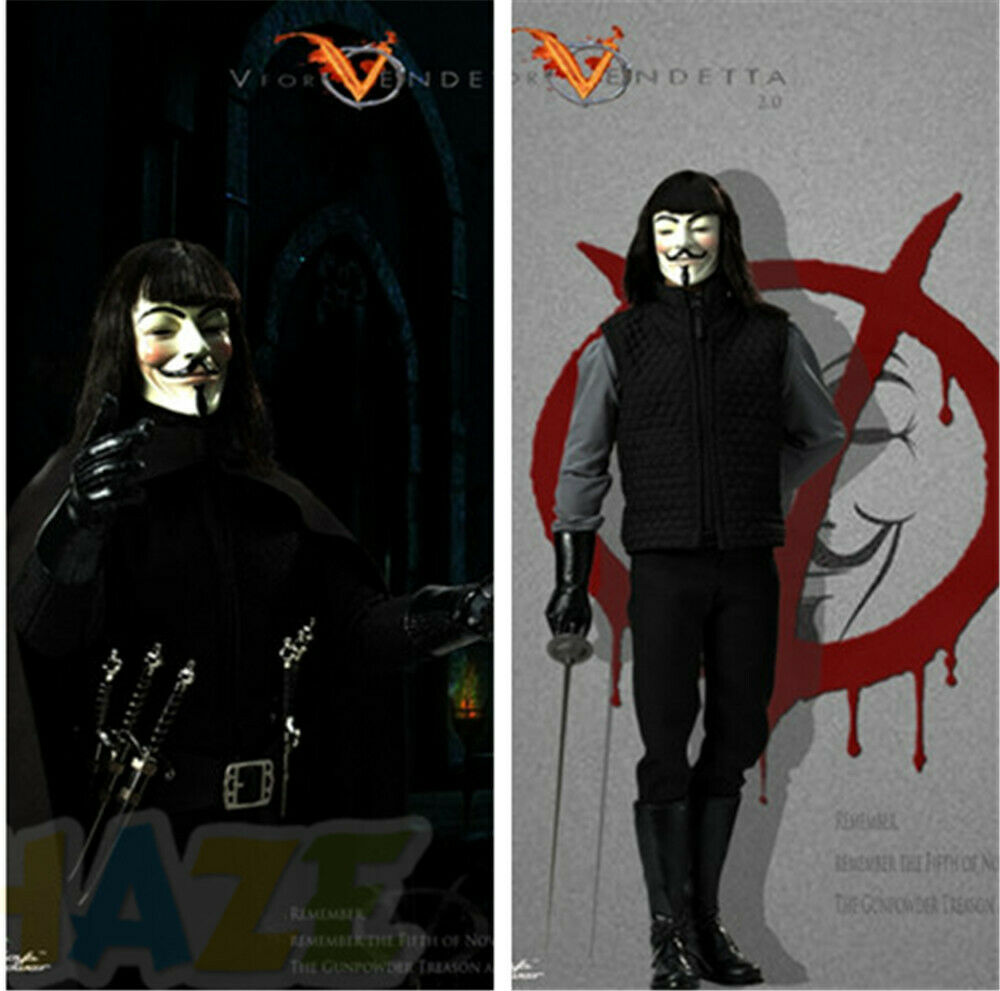 CT013 V for Vendetta 2.0 Model Action Figure Toys Movable Collectible 30cm New