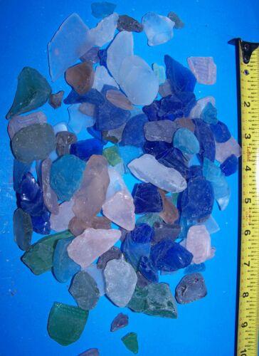 1 LB Mixed SEAGLASS SEA GLASS SEASHELLS CRAFTS WEDDINGS MORE Item # 1045-8-1