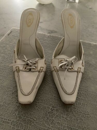 Tod's shoes White Slide Heels size 9