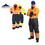 Portwest HI-Vis Coverall Contrast Thermal Lined Waterproof Suit Work wear S485