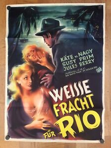 Weisse-Fracht-fuer-Rio-Kinoplakat-52-Kaethe-von-Nagy