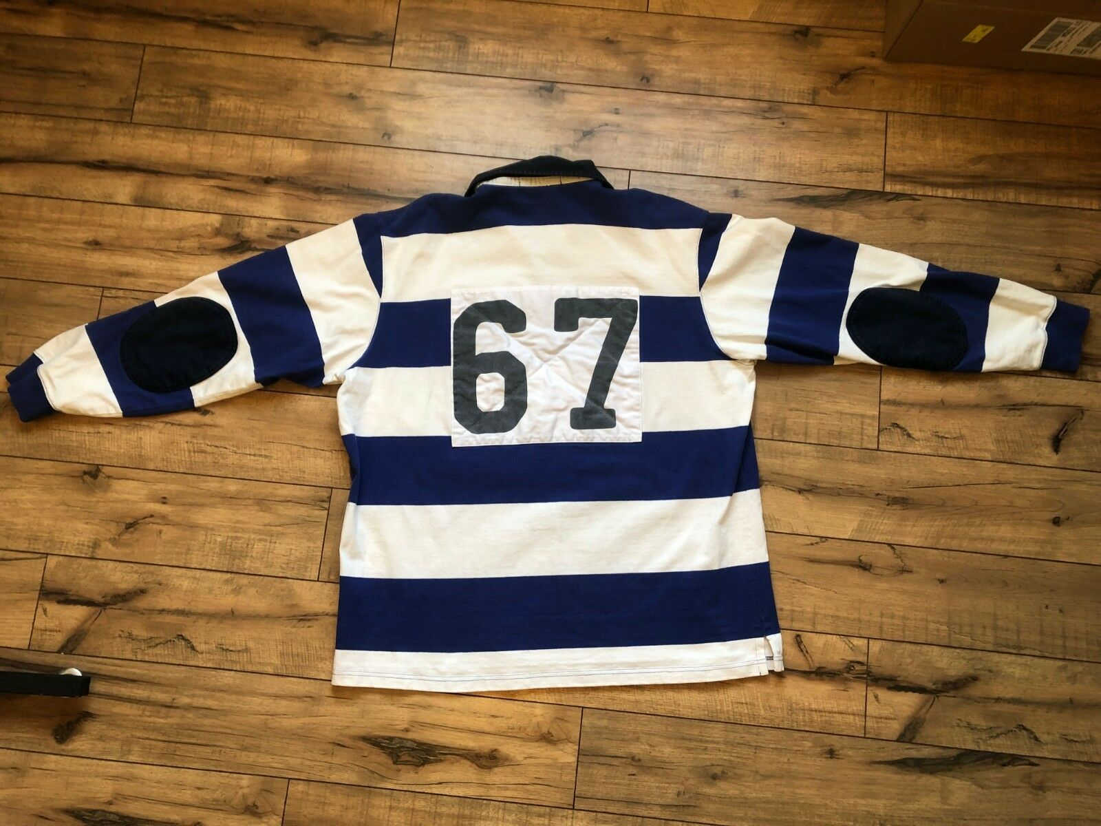 Polo Sport 67 striped rugby mens XL vintage Ralph Lauren