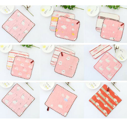 6 layers cotton baby wipe towel 25 x 25cm absorbent and soft baby Towel Face