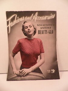 Fashions-amp-Accessories-Knit-Crochet-Pattern-Booklet-154-Sultana-1951-Sweaters