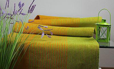 Tischläufer Tischdecke Läufer Tischband  45 x 180 cm Grün /Gelb  Rippstruktur
