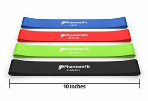 SET of 4 Best Power Bands Exercise Extreme Resistance Loop Yoga Gym Workout Band