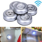 5 × Wireless LED Motion Sensor Ceiling Night Light Battery Powered Cabinets Lamp