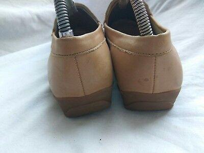 Clarks K para Mujer Beige/Plata Cuero Zapatos Planos Cuña de ajuste estrecho UK 6 EU 39