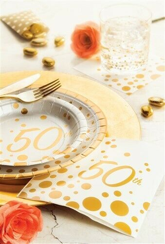Sparkle and Shine Gold 50th Anniversary Giant Banner Party Supplies Decoration