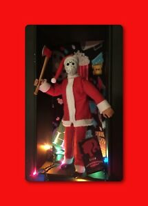 SALE-Santa-Voorhees-CUSTOM-HORROR-DOLL-OOAK-12-Jason-Friday-13th-Figure