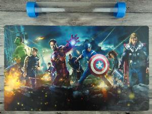 Marvel Comics Civil War Mat YuGiOh Custom TCG//MTG//VG Playmat Free Best Tube