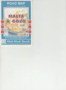 Cartina Di Malta Da Stampare.Cartina Mappa Malta Gozo Ebay