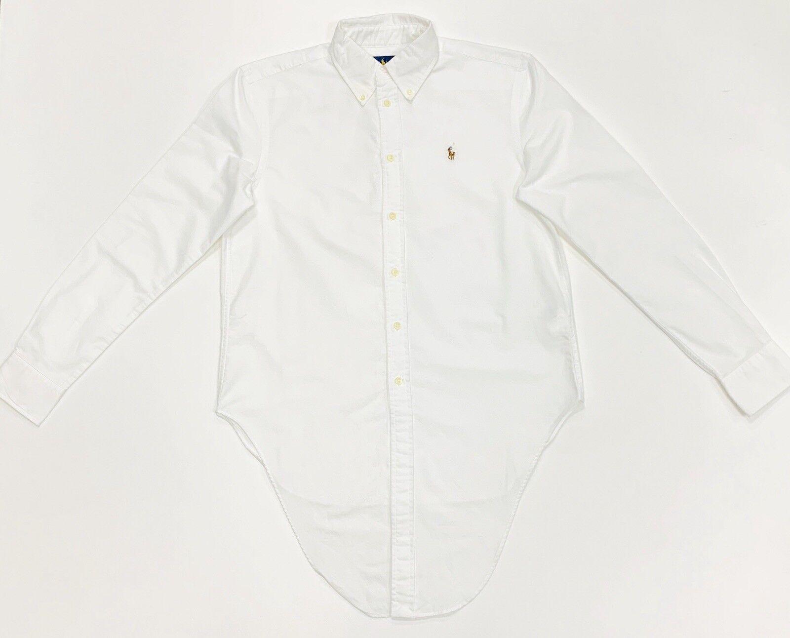 POLO RALPH LAUREN donna Cotone Oxford Camicia in A Maniche Lunghe ... 52b67436da6