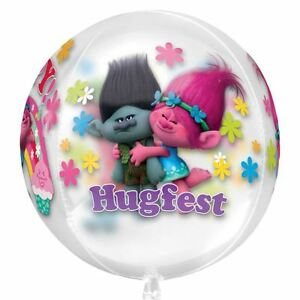 16-034-Trolls-Helium-Foil-Balloon-Orbz-Poppy-Children-039-s-Birthday-Party-Decorations