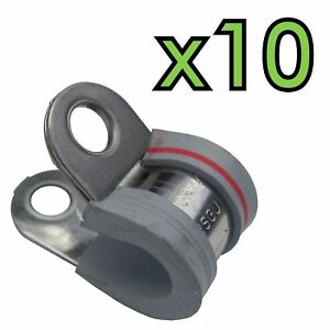 s l300 10x norma stainless p clips 10mm for hot rod fuel line cable rat pop