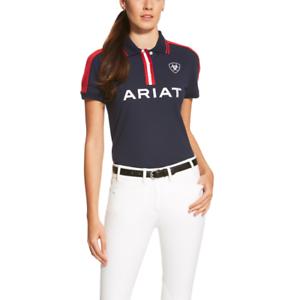 Ariat Camisa Polo para mujer Nuevo  Equipo-Azul Marino  precio razonable