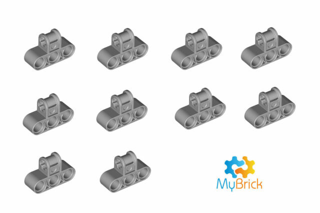 10x Lego Light Gray Technic, Axle and Pin Connector 63869 - Free Postage