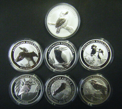 2011 2012 2013 2014 2015 2016 Australian $1 Koala 1 oz Silver Bullion Coin Set