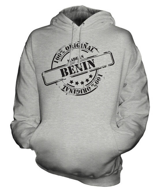 MADE IN BENIN UNISEX HOODIE  Herren Damenschuhe LADIES GIFT CHRISTMAS BIRTHDAY 50TH