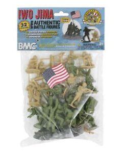 BMC-World-War-II-Battle-of-Iwo-Jima-Bagged-Playset-32-Pieces-54mm-Scale
