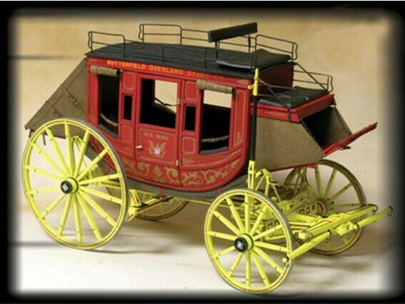Model Trailways MS6001 Concord Stagecoach Wood Metal Kit 1 12 Scale