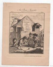 Chromo Au Bon Marché. Le Sabot. Collection de vieilles estampes du XVIIIe siècle