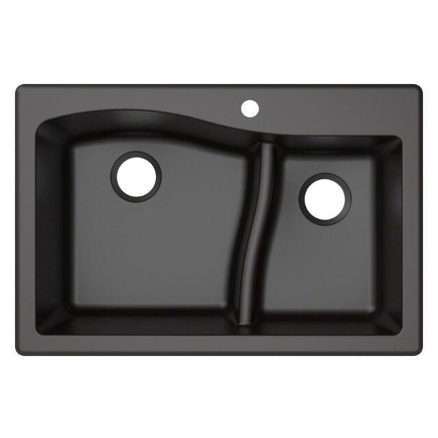 25 Inch Black Kraus Kgd 441black Granite Kitchen Sink Home Garden Bathroom Sinks