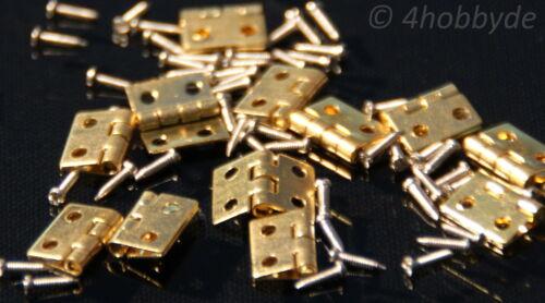 12 Mini-Scharniere für Schmuckkästchen oder Schatulle mit Nägeln