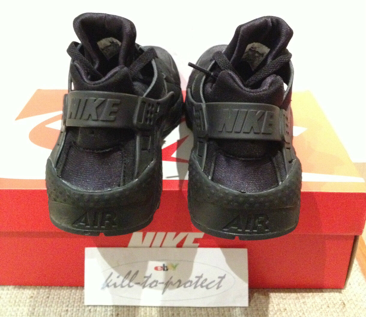 NIKE HUARACHE TRIPLE ALL BLACK Sz US UK 7 7 UK 8 9 10 11 12 Weiß OG 318429-003 2014 27f7ed