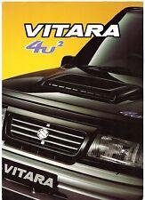 Suzuki Vitara 4U2 Limited Edition 1999 UK Market Sales Brochure Estate Soft Top