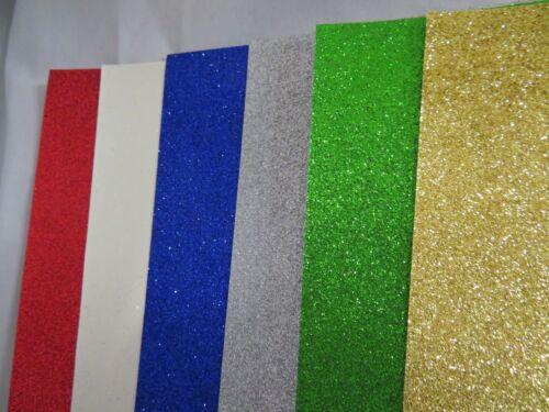 A5 Glitter 12 feuilles de papier de 6 couleurs par paquet cartes 80gsm Artisanat Scrapbooking